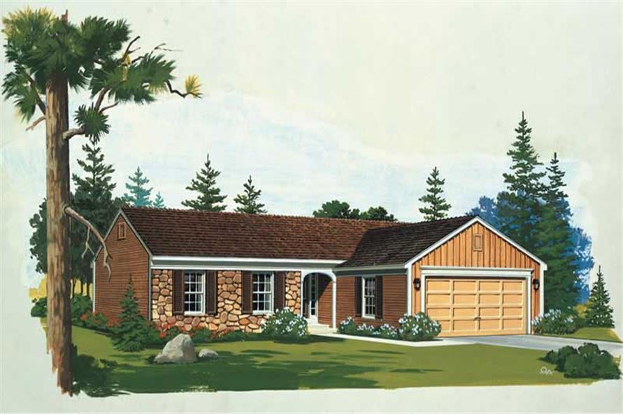 3-Bedroom, 1267 Sq Ft Country House Plan - 137-1769 - Front Exterior