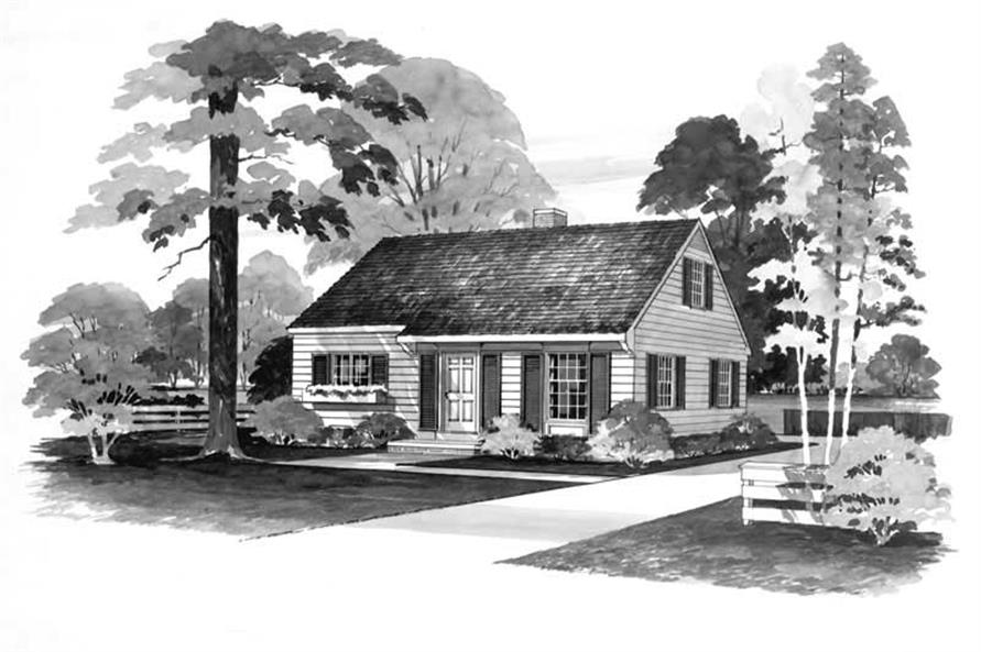 4-Bedroom, 1344 Sq Ft Country House Plan - 137-1770 - Front Exterior