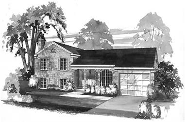 3-Bedroom, 1584 Sq Ft Country House Plan - 137-1773 - Front Exterior
