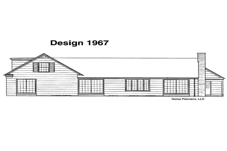 Home Plan Rear Elevation of this 5-Bedroom,2300 Sq Ft Plan -137-1778