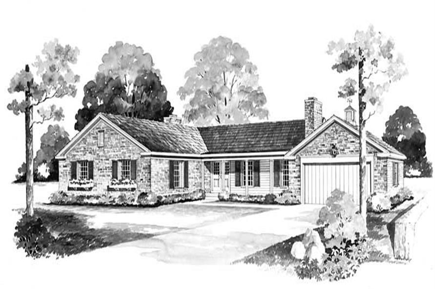 3-Bedroom, 2370 Sq Ft Country House Plan - 137-1779 - Front Exterior