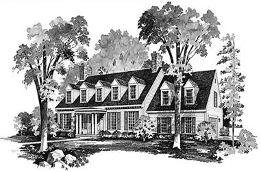 3-Bedroom, 2745 Sq Ft Colonial Home Plan - 137-1781 - Main Exterior