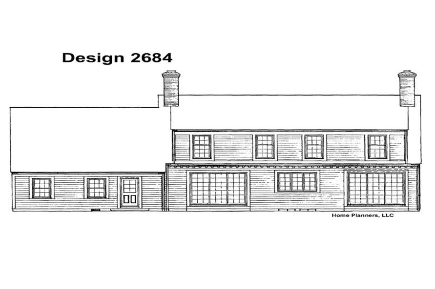 Home Plan Rear Elevation of this 3-Bedroom,2745 Sq Ft Plan -137-1781