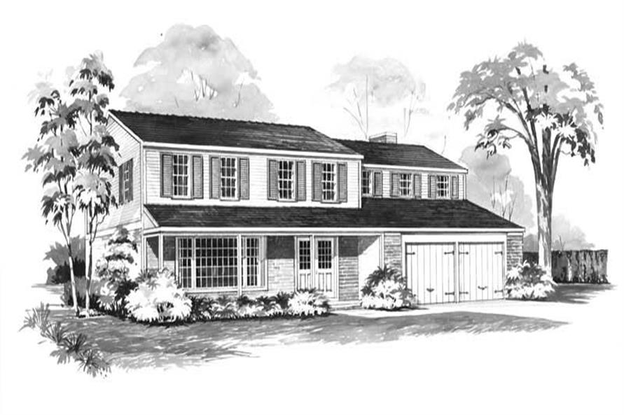 5-Bedroom, 2490 Sq Ft House Plan - 137-1783 - Front Exterior