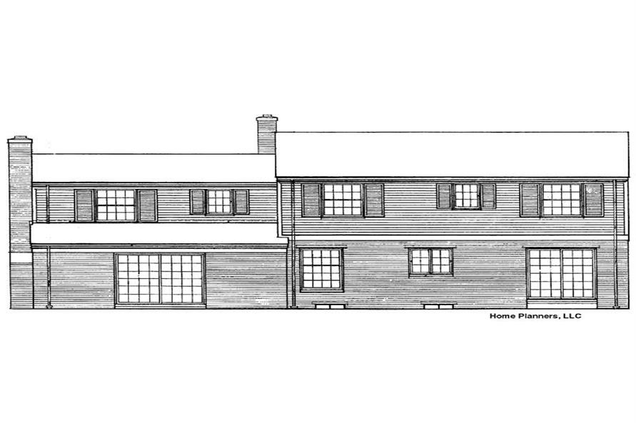 Home Plan Rear Elevation of this 5-Bedroom,2490 Sq Ft Plan -137-1783