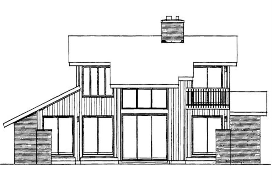 Home Plan Rear Elevation of this 3-Bedroom,2346 Sq Ft Plan -137-1785