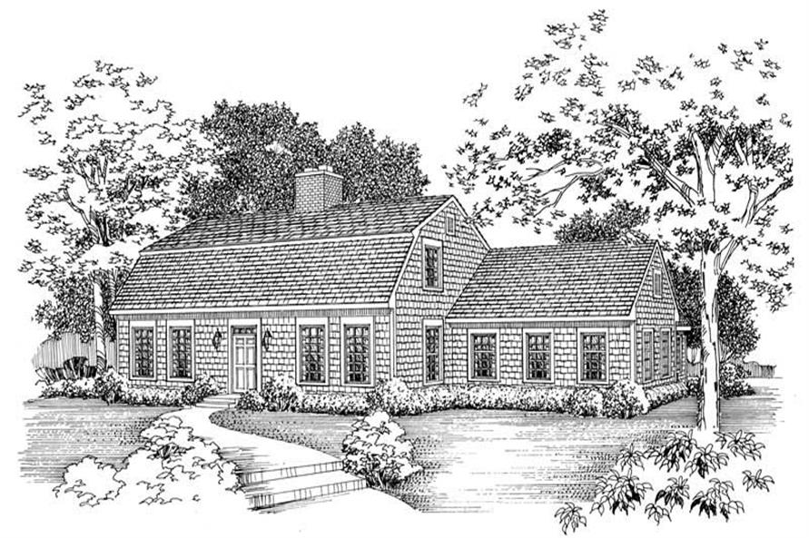 3-Bedroom, 2367 Sq Ft Cape Cod Home Plan - 137-1790 - Main Exterior