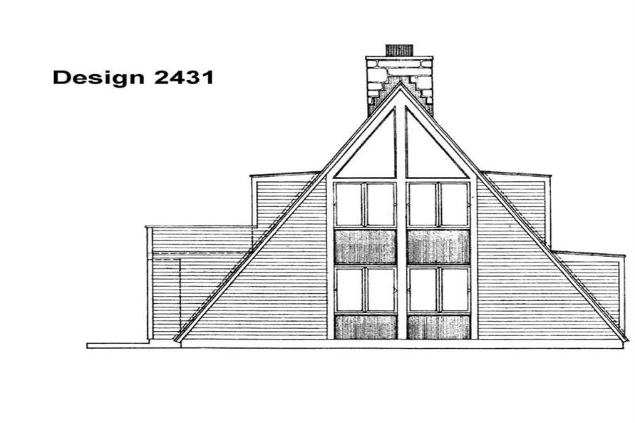 Home Plan Rear Elevation of this 3-Bedroom,1463 Sq Ft Plan -137-1791