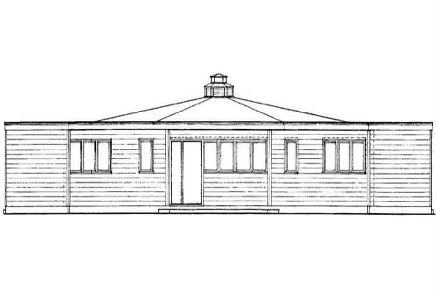 Home Plan Rear Elevation of this 3-Bedroom,1336 Sq Ft Plan -137-1795