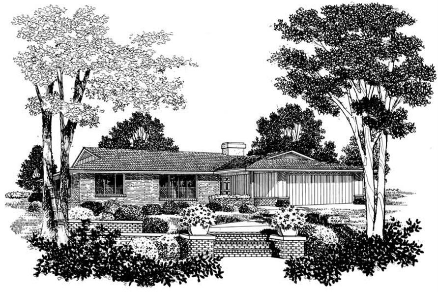 3-Bedroom, 1862 Sq Ft Ranch House Plan - 137-1799 - Front Exterior