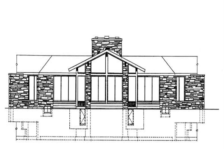 Home Plan Rear Elevation of this 3-Bedroom,3262 Sq Ft Plan -137-1804
