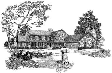 4-Bedroom, 3751 Sq Ft Country House Plan - 137-1805 - Front Exterior