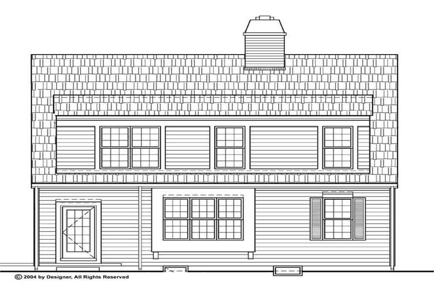 Home Plan Rear Elevation of this 3-Bedroom,1908 Sq Ft Plan -137-1808