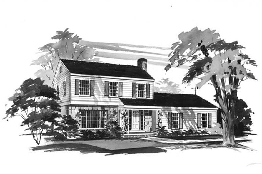 5-Bedroom, 1750 Sq Ft Country Home Plan - 137-1810 - Main Exterior
