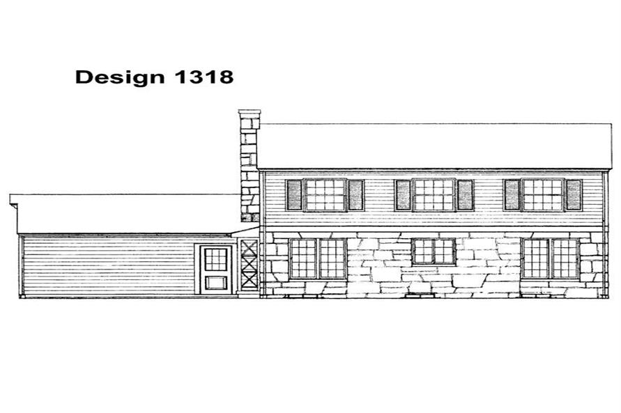 Home Plan Rear Elevation of this 5-Bedroom,1750 Sq Ft Plan -137-1810
