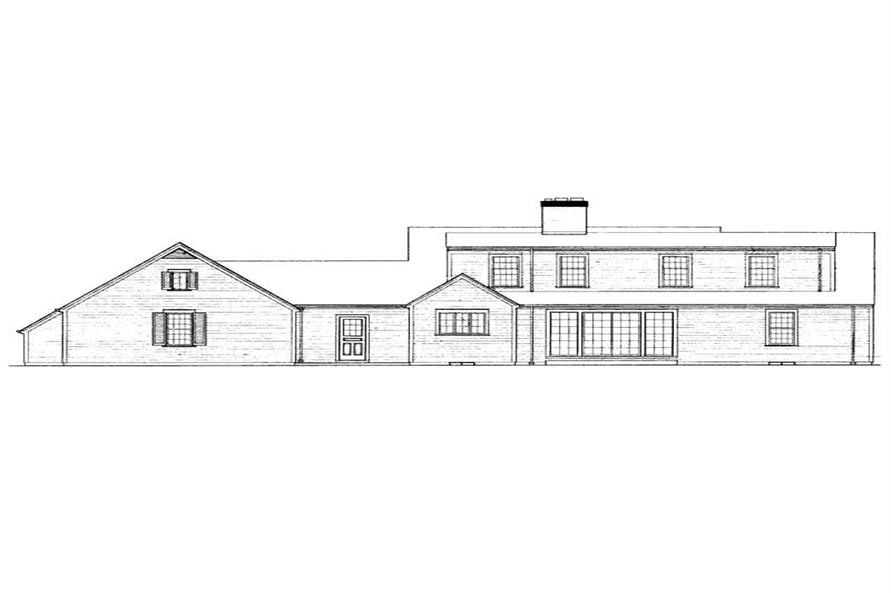 Home Plan Rear Elevation of this 4-Bedroom,2342 Sq Ft Plan -137-1815