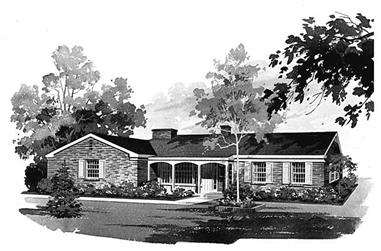 3-Bedroom, 1644 Sq Ft Country Home Plan - 137-1816 - Main Exterior