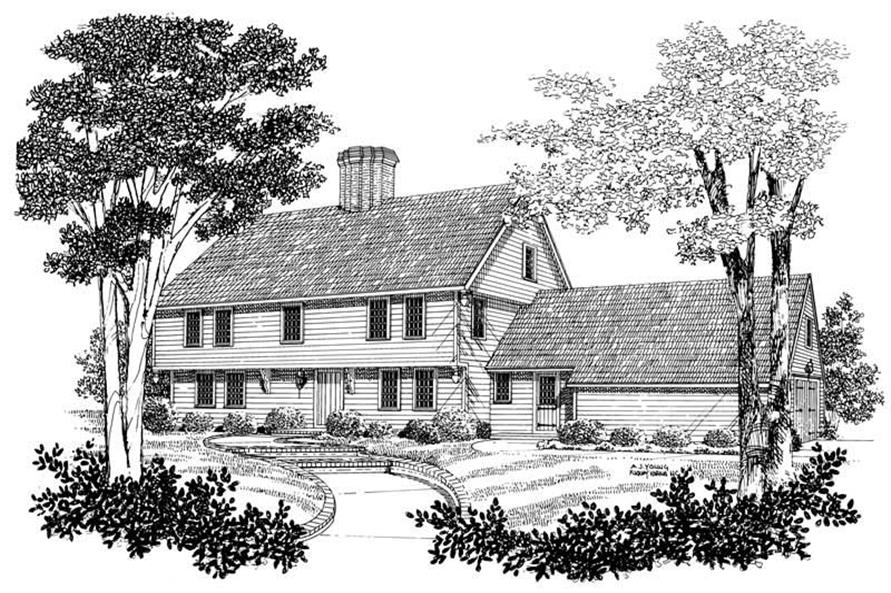 3-Bedroom, 2452 Sq Ft Colonial House Plan - 137-1817 - Front Exterior