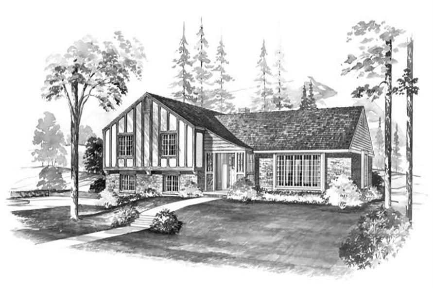 4-Bedroom, 1450 Sq Ft European Home Plan - 137-1818 - Main Exterior