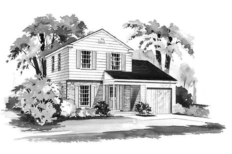 3-Bedroom, 1216 Sq Ft Country Home Plan - 137-1824 - Main Exterior