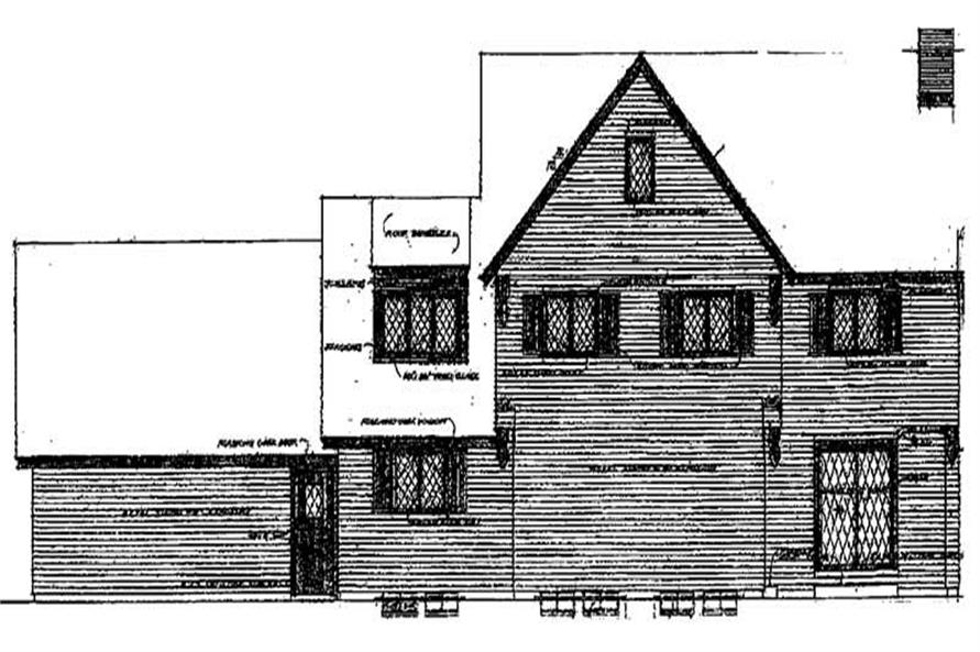 Home Plan Rear Elevation of this 4-Bedroom,2455 Sq Ft Plan -137-1832