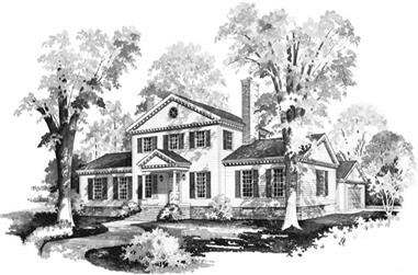 4-Bedroom, 2524 Sq Ft Colonial House Plan - 137-1836 - Front Exterior