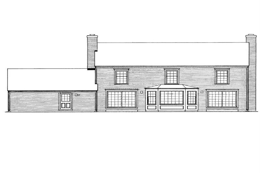 Home Plan Rear Elevation of this 3-Bedroom,2849 Sq Ft Plan -137-1848