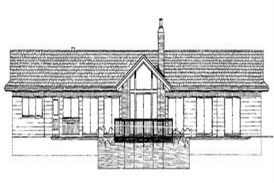 Home Plan Rear Elevation of this 3-Bedroom,2632 Sq Ft Plan -137-1852