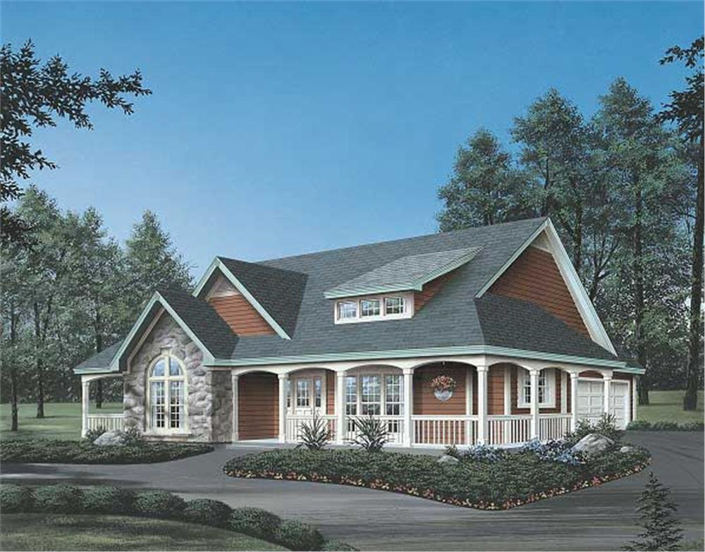 Summerset Country house design front rendering