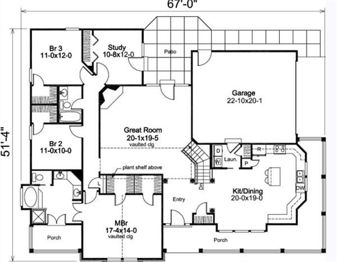 Country House Plan 3 Bedrms 2 Baths 2029 Sq Ft 1381002 – Floor Plans For Country Homes