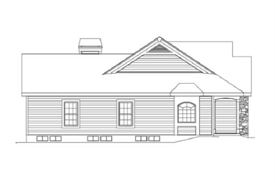 Home Plan Left Elevation of this 3-Bedroom,2029 Sq Ft Plan -138-1002