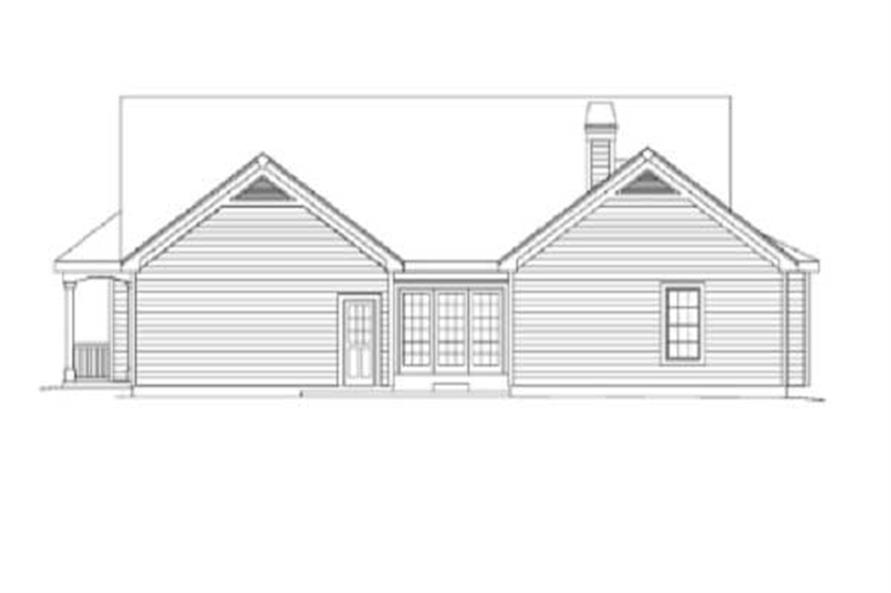 Home Plan Rear Elevation of this 3-Bedroom,2029 Sq Ft Plan -138-1002