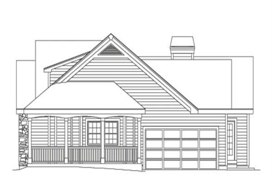 Home Plan Right Elevation of this 3-Bedroom,2029 Sq Ft Plan -138-1002