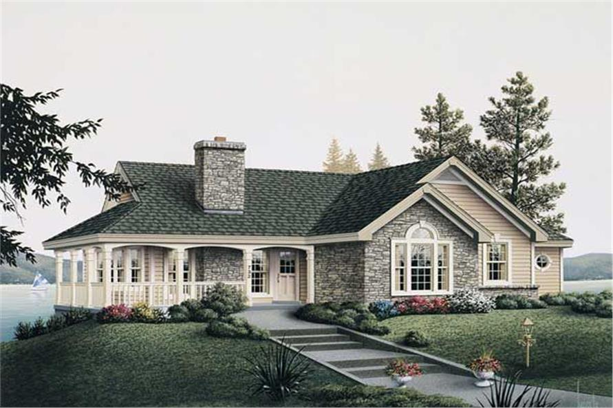 2-Bedroom, 1922 Sq Ft Country Home Plan - 138-1003 - Main Exterior