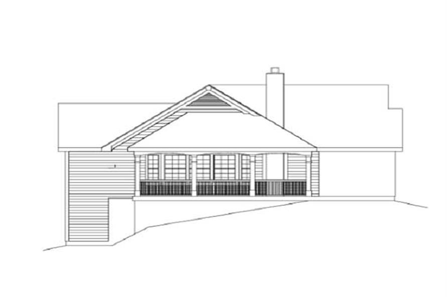 Home Plan Left Elevation of this 2-Bedroom,1922 Sq Ft Plan -138-1003