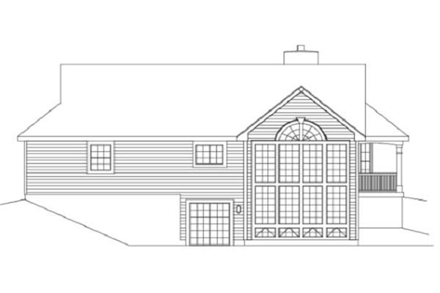 Home Plan Rear Elevation of this 2-Bedroom,1922 Sq Ft Plan -138-1003
