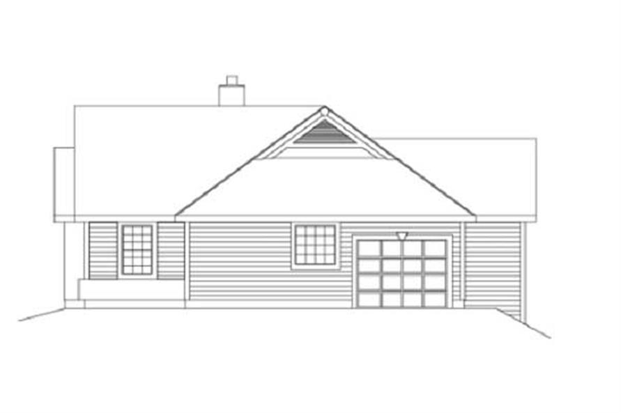 Home Plan Right Elevation of this 2-Bedroom,1922 Sq Ft Plan -138-1003