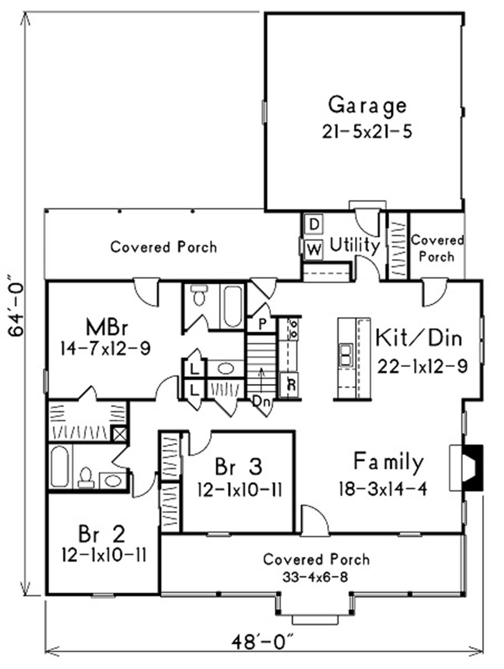 138-1004: Floor Plan Main Level