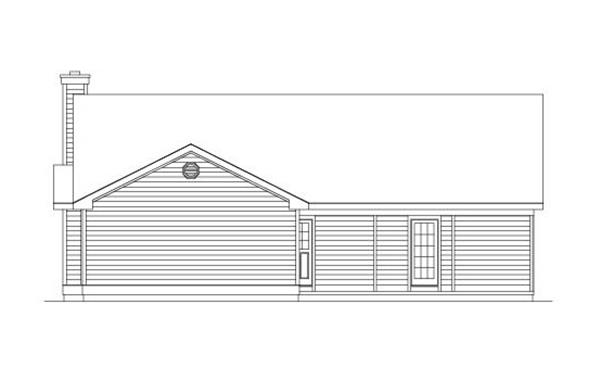 138-1004: Home Plan Rear Elevation