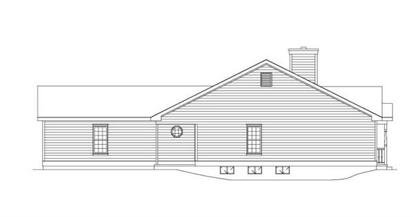 138-1004: Home Plan Left Elevation
