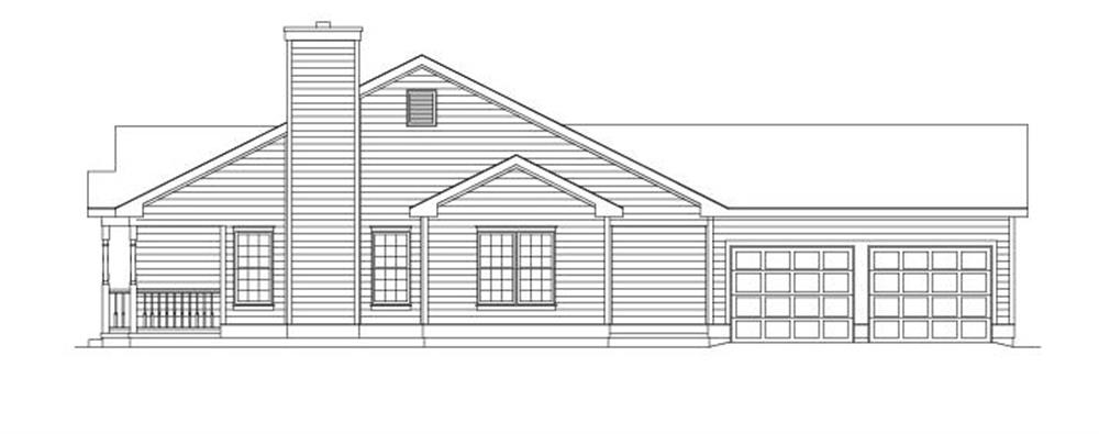 138-1004: Home Plan Right Elevation