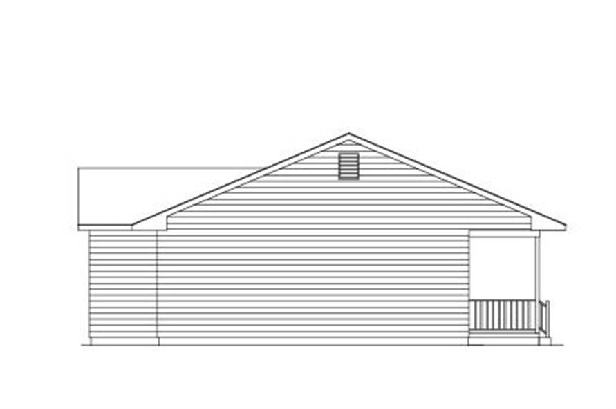138-1005: Home Plan Left Elevation
