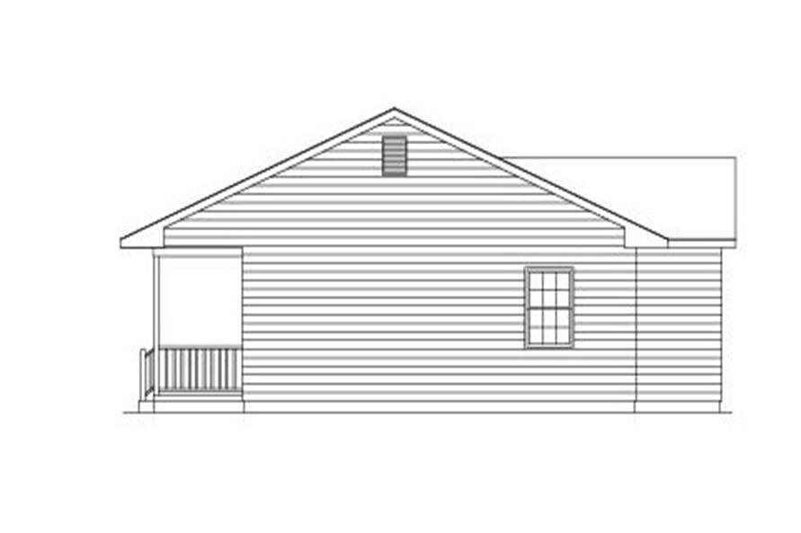 138-1005: Home Plan Right Elevation