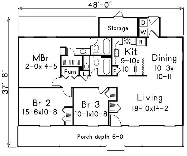 138-1005: Floor Plan Main Level