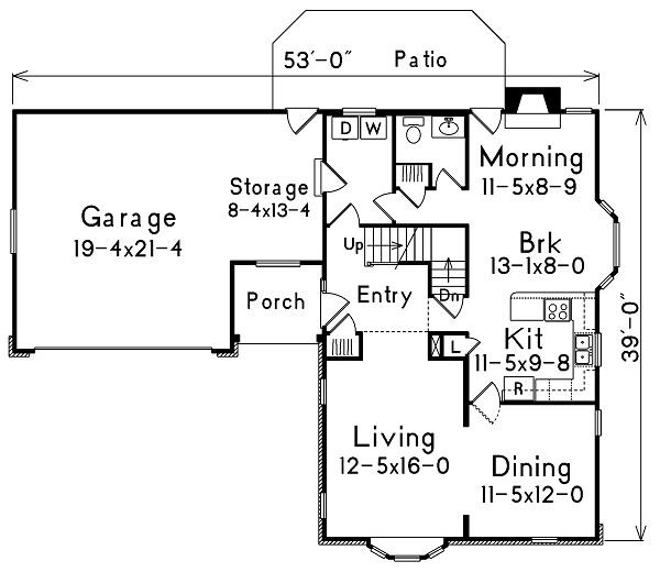 138-1006: Floor Plan Main Level