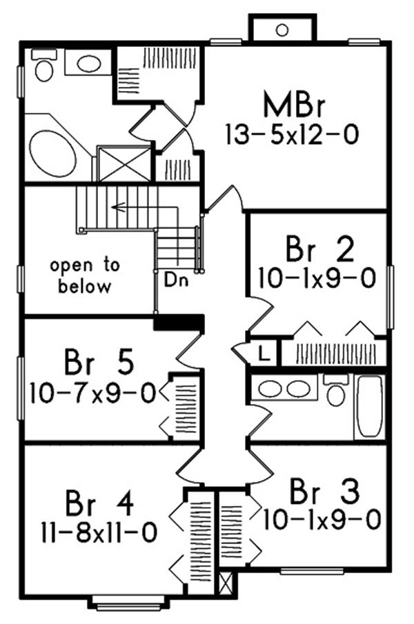 138-1006: Floor Plan Upper Level