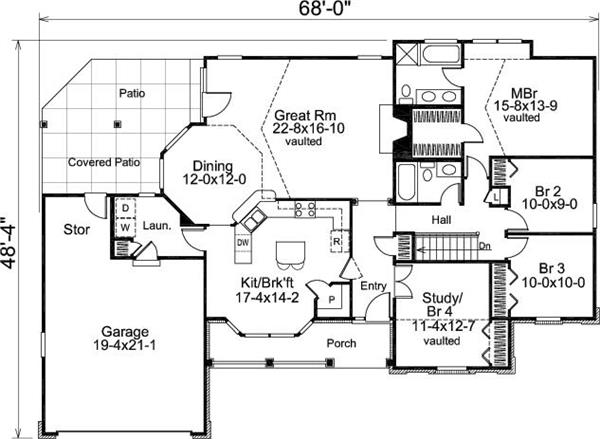 138-1007: Floor Plan Main Level