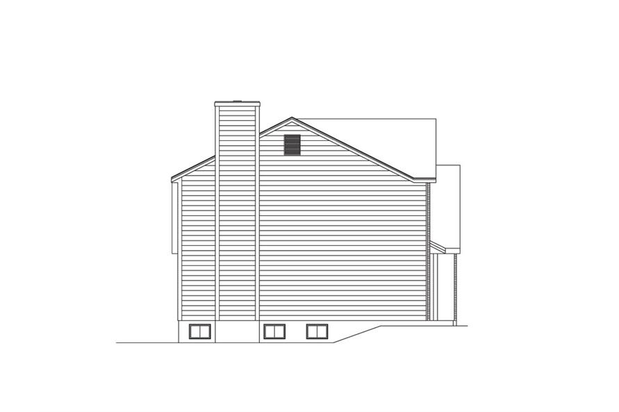 138-1008: Home Plan Left Elevation