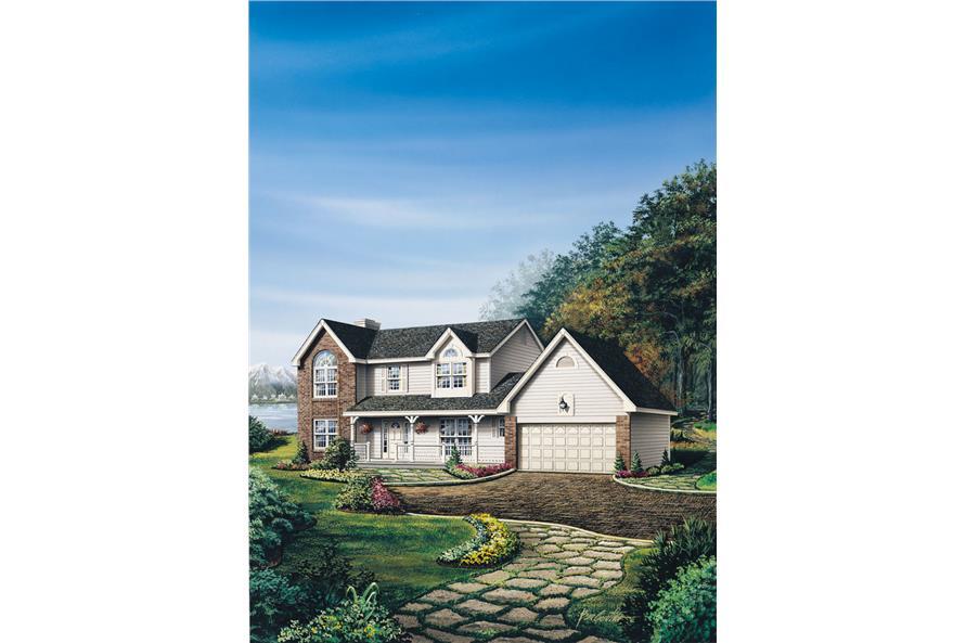 138-1008: Home Plan Rendering