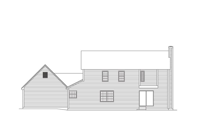 138-1008: Home Plan Rear Elevation
